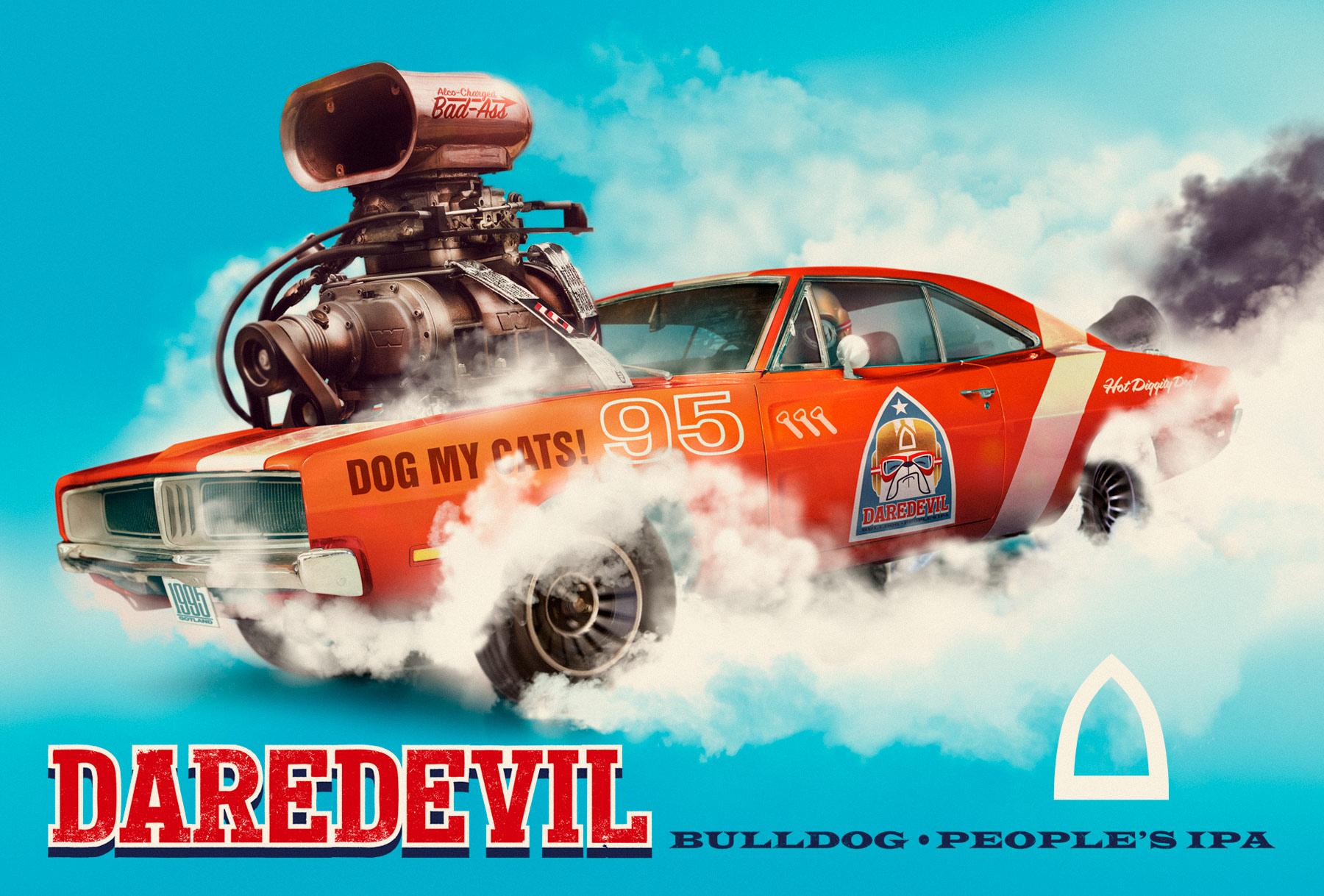 Daredevil IPA designed by Problem Bob